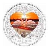 Серебряная монета Фламинго