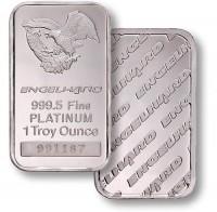 Фото мерные слитки платины США
