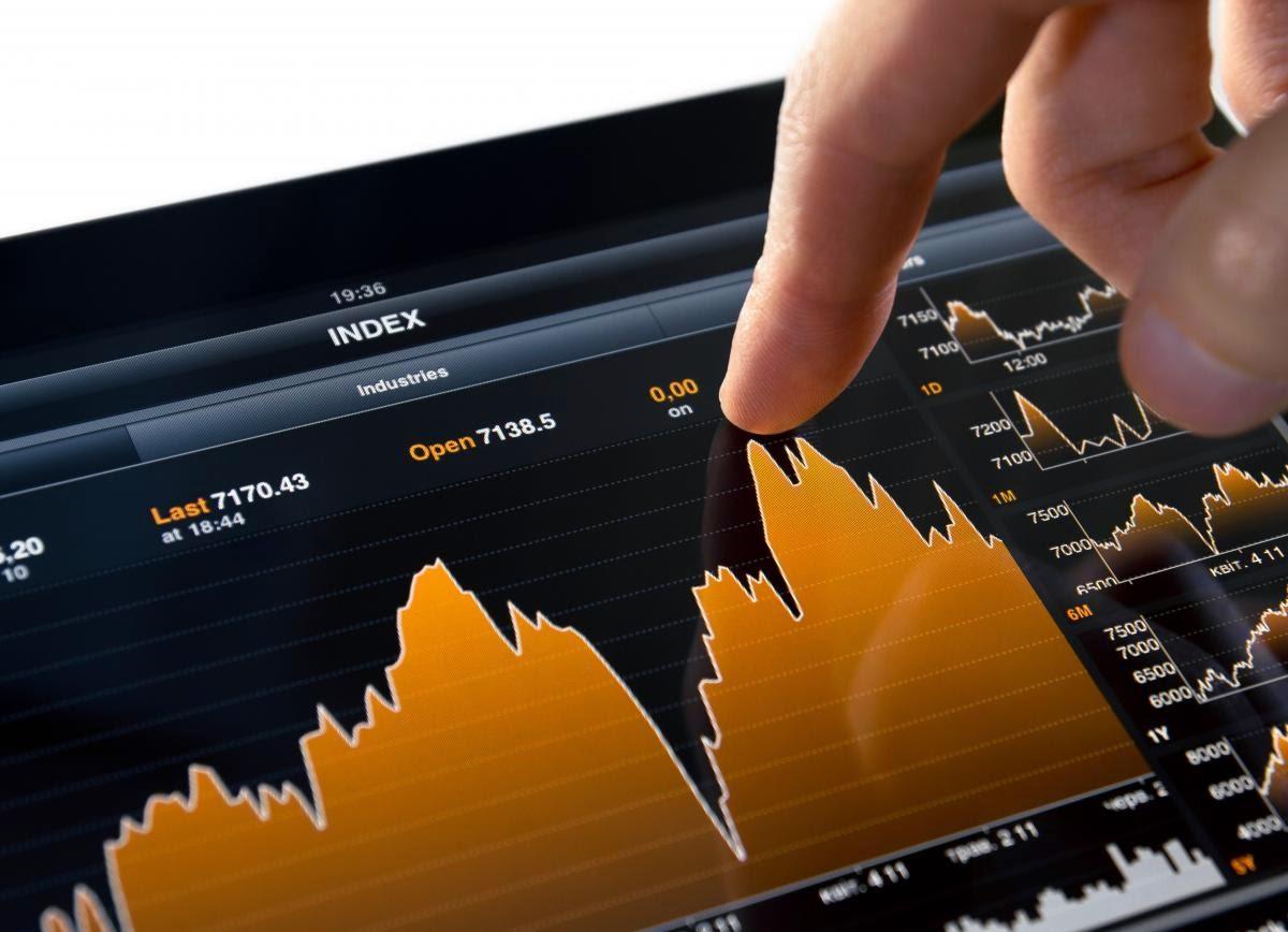 график колебаний на бирже