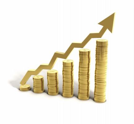 Стопки золотых монет - по возрастающей