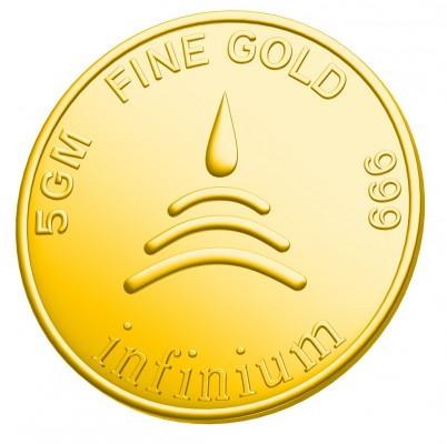 Золотая монета 999 пробы