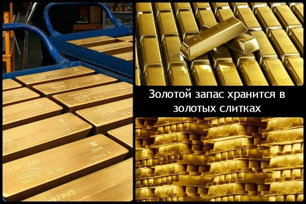Различные изображения золотых слитков