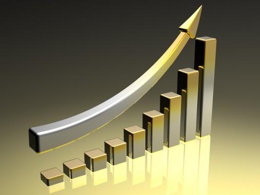 Котировки золота: положительный график