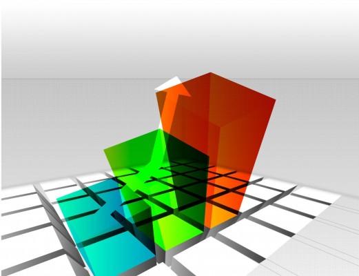 Разноцветные столбцы графика
