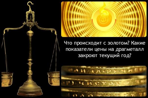 Коллаж с вопросами о цене на золото
