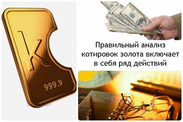 Фундаментальный анализ рынка форекс на золото