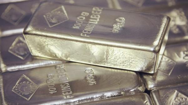Серебряные слитки крупным планом