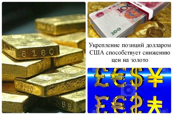 Курс доллара США и котировки золота