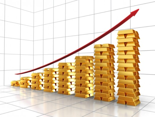 Золото: график в виде слитков