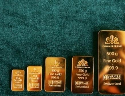 Золотые слитки - по возрастанию (цена на золото)