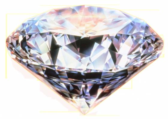 Инвестиции: алмаз на белом фоне