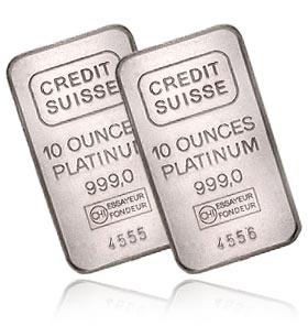 Два слитка платины