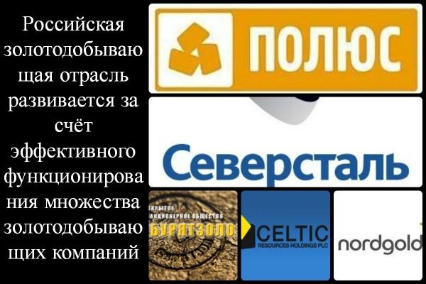 Коллаж о золотодобывающих компаниях