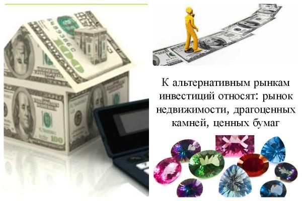 Коллаж: альтернативные рынки инвестиции