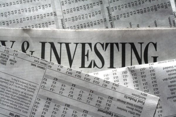Заголовок об инвестициях в газете