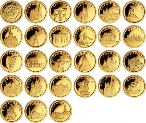 Изображения зарубежных инвестиционных монет