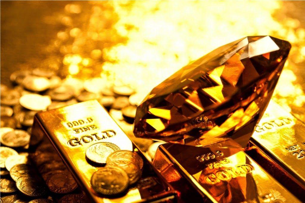 Золотой камень, слитки и монеты