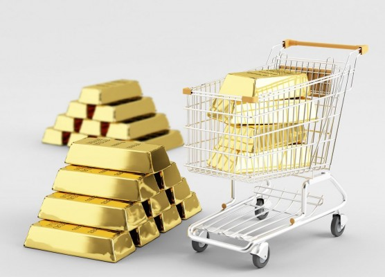 Стопки слитков золота