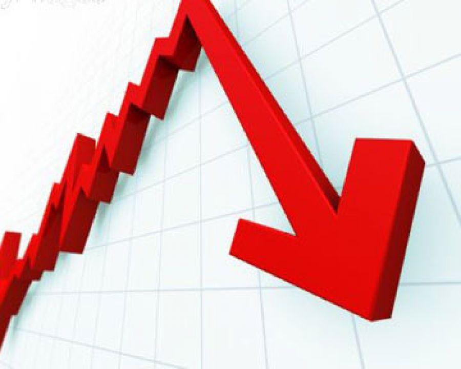 Условный график обвала цен золота