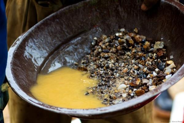 Промывка золотой руды