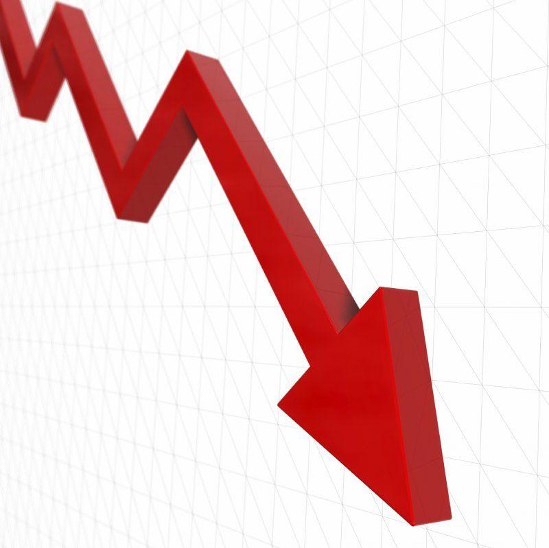 Условный график отрицательной динамики