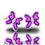Детские серьги из пурпурного и белого золота
