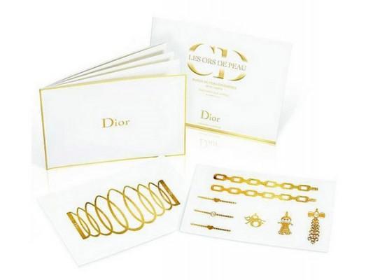 Золотые татуировки от Dior