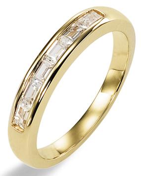 Элегантное обручальное кольцо из золота 750-ой пробы