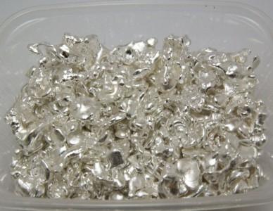 Результат аффинажа серебра