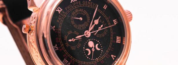 Часы из розового золота