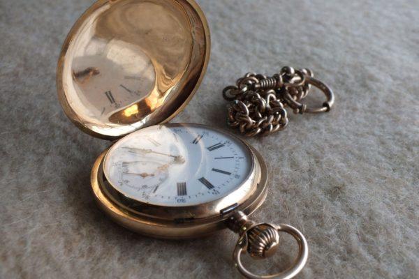 карманные часы из золота 56 пробы