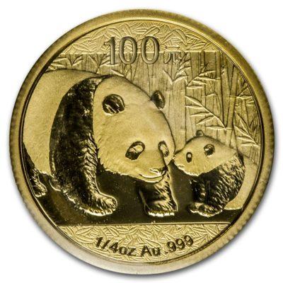 золотая монета Панда