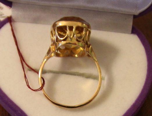советское золотое украшение