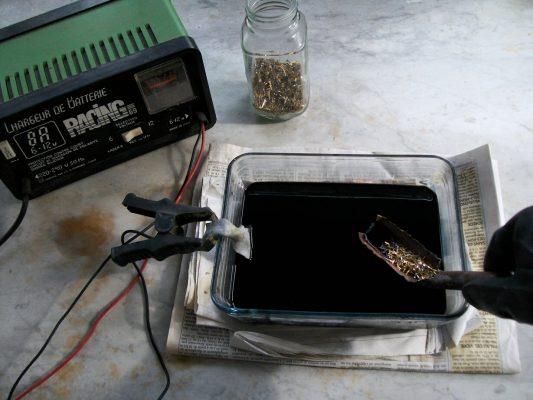 добыча золота из радиодеталей физическим методом