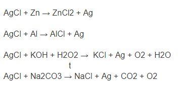 химические формулы для восстановления серебра