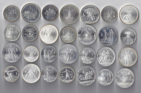 оригиналы монет олимпиады 80
