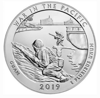 монета национальные исторические войны в Тиком океане