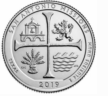 монета национальный исторический парк миссии Сан-Антонио