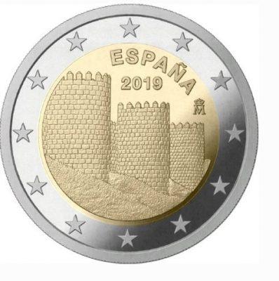 2 испанских евро 2019 года