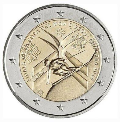 2 евро 2019 года, выпущенные в Андоре