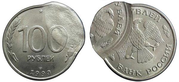 двойной удар со смещением на монете