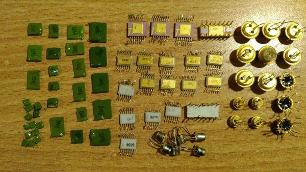 конденсаторы и транзисторы с телевизора