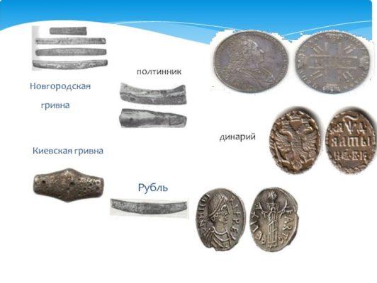 разные древние монеты