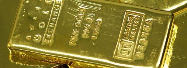 золотые слитки с маркировкой
