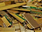 компьютерные платы с золотом