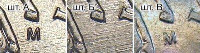различия пятикопеечных монет 2003 года