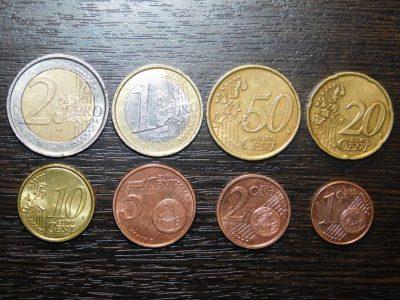 иностранные монеты различных номиналов