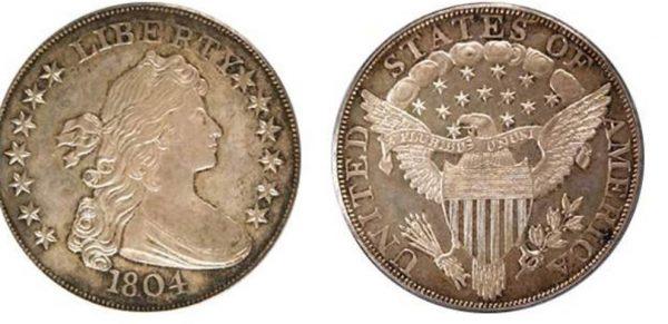 серебрянный долар 1804 года