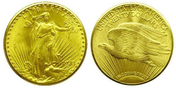 монета Двойной орел 1933 года