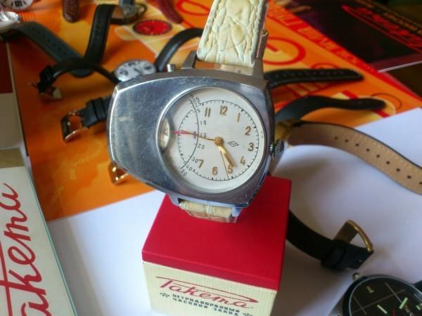совеьские часы со счетчиком Гейгера
